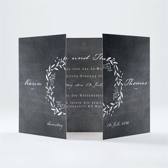 Einladungskarte Hochzeit Gravur auf Schiefertafel réf.N70163