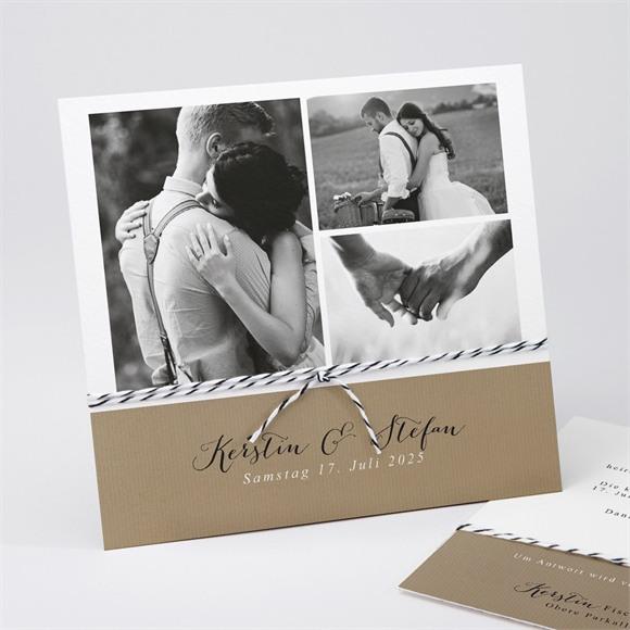 Einladungskarte Hochzeit Verknüpft réf.N311192
