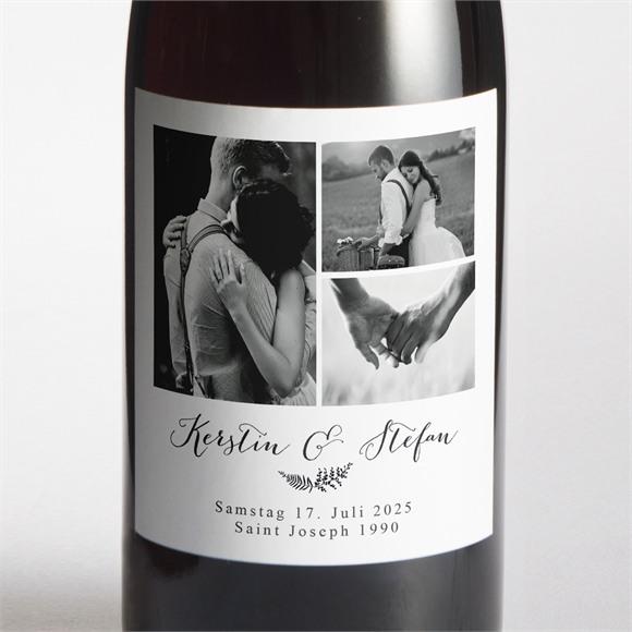 Flaschenetikett Hochzeit Verknüpft réf.N3001299
