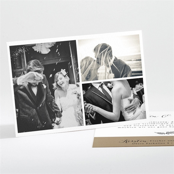 Danksagungskarte Hochzeit Verknüpft réf.N111175