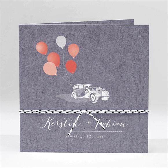 Einladungskarte Hochzeit Vintage Auto réf.N45169