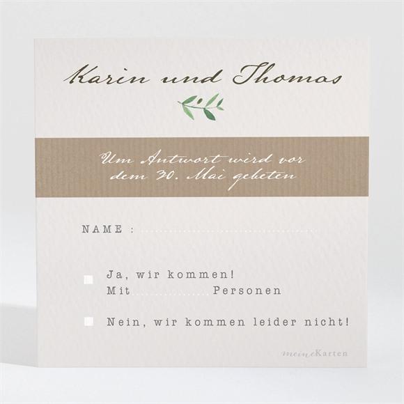 Antwortkarte Hochzeit Frühlingskranz réf.N3001304