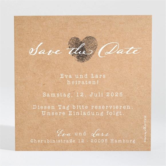 Save the Date Hochzeit Abdruck des Herzens réf.N3001309
