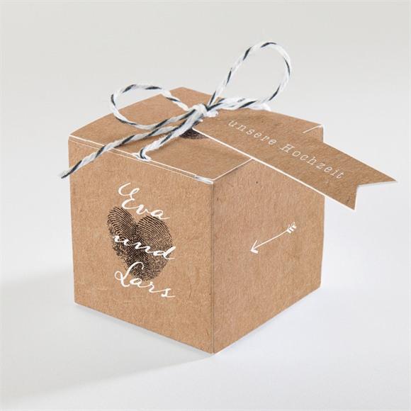 Zuckermandel Schachtel Hochzeit Abdruck des Herzens réf.N34075