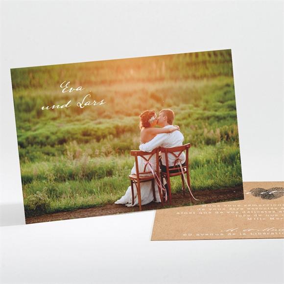 Danksagungskarte Hochzeit Abdruck des Herzens réf.N111178
