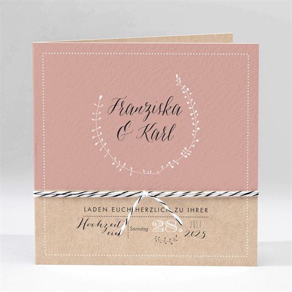 Einladungskarte Hochzeit Festlichkeit réf.N45170