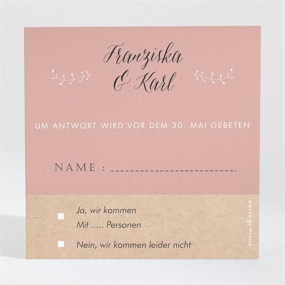 Antwortkarte Hochzeit Festlichkeit réf.N3001313