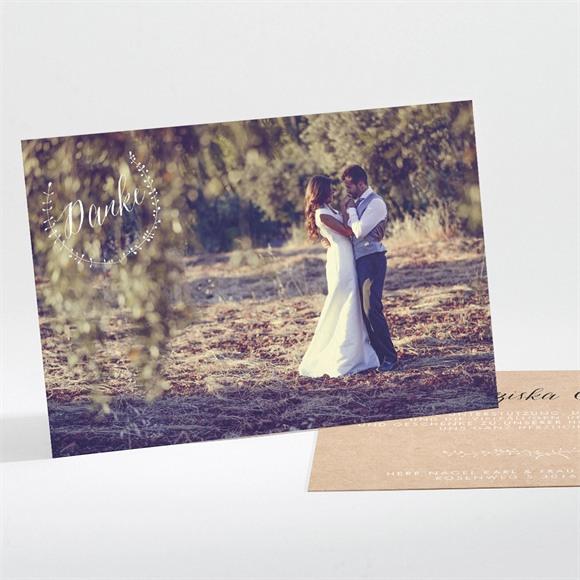 Danksagungskarte Hochzeit Festlichkeit réf.N111179