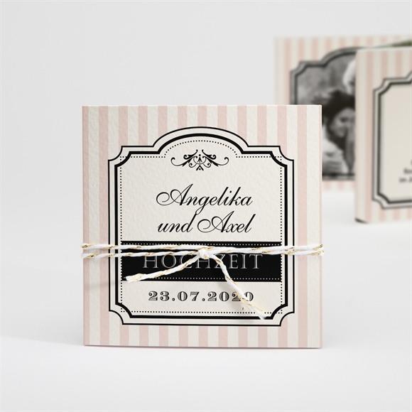 Einladungskarte Hochzeit Retro-Ambiente réf.N83105