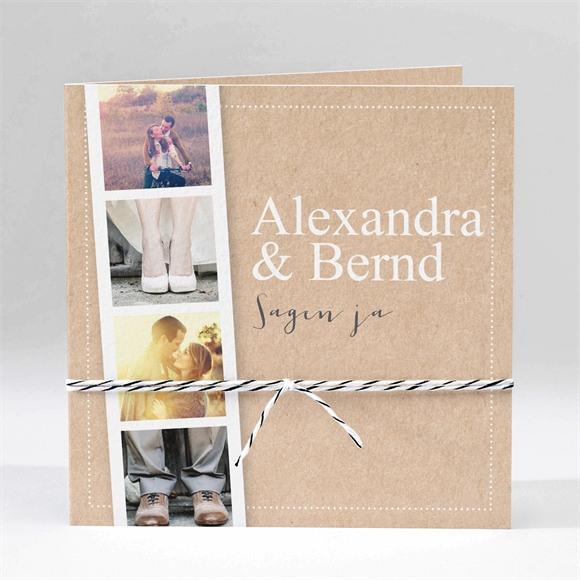 Einladungskarte Hochzeit Unsere Story réf.N45171