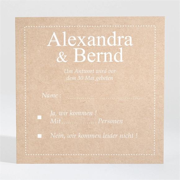 Antwortkarte Hochzeit Unsere Story réf.N3001326