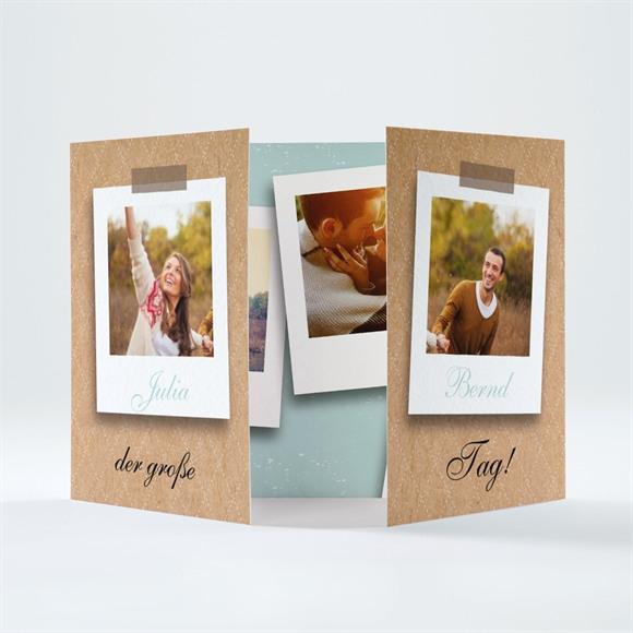 Einladungskarte Hochzeit Fotoalbum réf.N70165