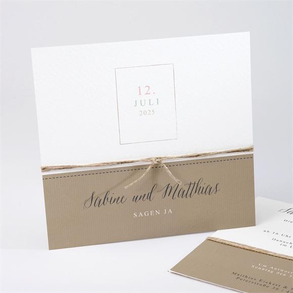 Einladungskarte Hochzeit Natürlich verbunden réf.N311194