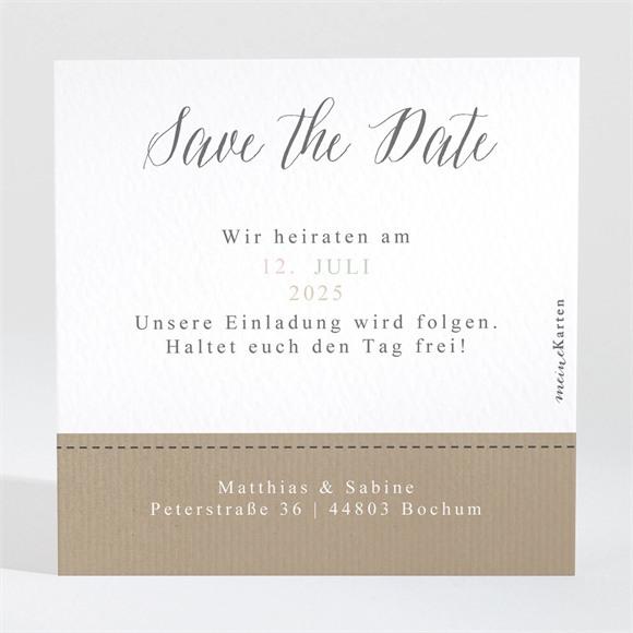 Save the Date Hochzeit Natürlich verbunden réf.N3001334