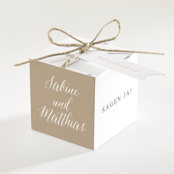 Zuckermandel Schachtel Hochzeit Natürlich verbunden réf.N34082