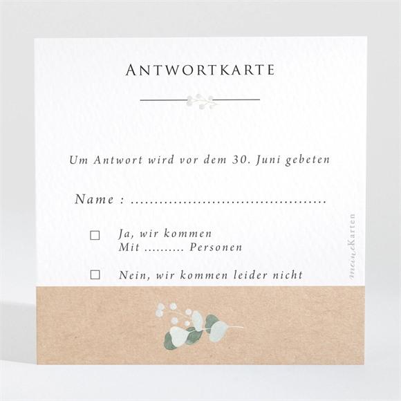 Antwortkarte Hochzeit Silber-Linde réf.N3001344