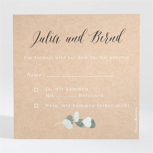 Antwortkarte Hochzeit Eukalyptus rustikal réf.N3001347