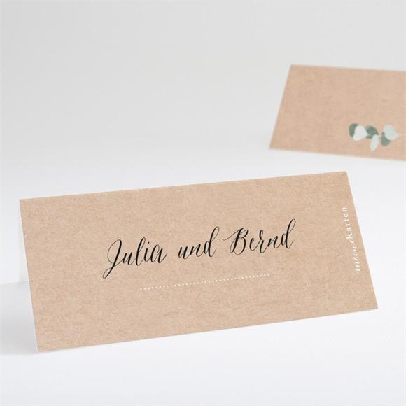 Tischkarte Hochzeit Eukalyptus rustikal réf.N440641