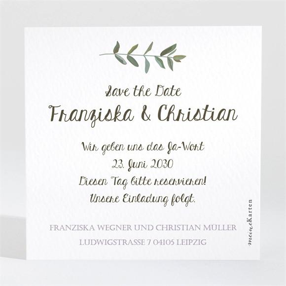 Save the Date Hochzeit Zarte Blüte réf.N3001349