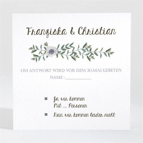 Antwortkarte Hochzeit Zarte Blüte réf.N3001350