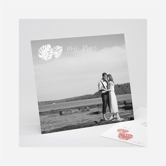 Danksagungskarte Hochzeit Philodendron réf.N311199