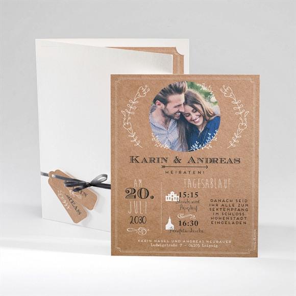 Einladungskarte Hochzeit Vertrauen réf.N92037