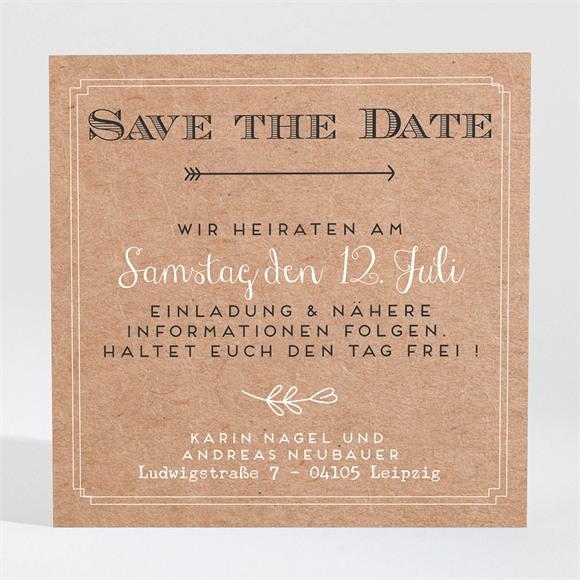 Save the Date Hochzeit Vertrauen réf.N3001365