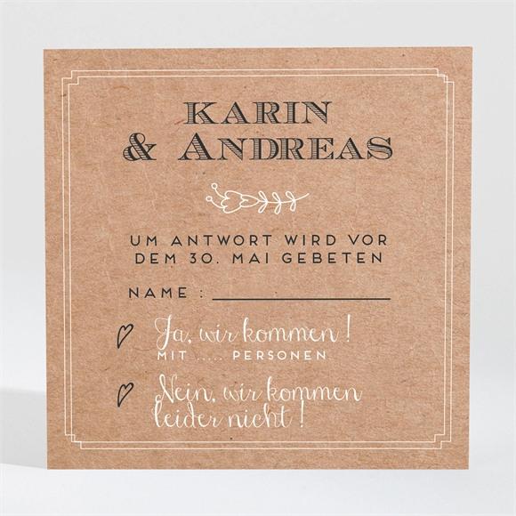 Antwortkarte Hochzeit Vertrauen réf.N3001366