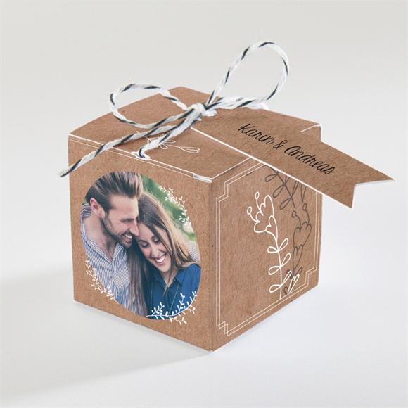 Zuckermandel Schachtel Hochzeit Vertrauen réf.N34092