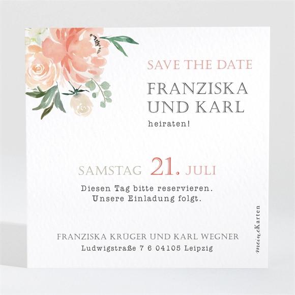 Save the Date Hochzeit Rosen Romantik réf.N3001372
