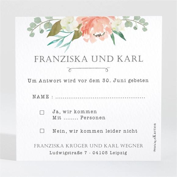 Antwortkarte Hochzeit Rosen Romantik réf.N3001373