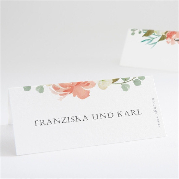 Tischkarte Hochzeit Romantische Rosen réf.N440649