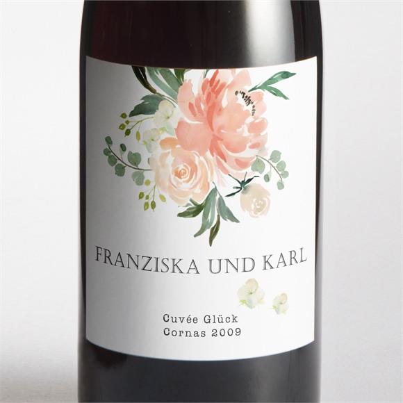 Flaschenetikett Hochzeit Rosen Romantik réf.N3001374
