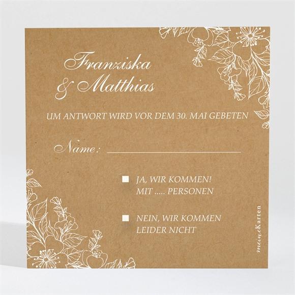 Antwortkarte Hochzeit Weiße Blüten réf.N3001394