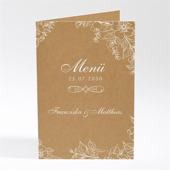 Menü Hochzeit Weiße Blüten réf.N401796
