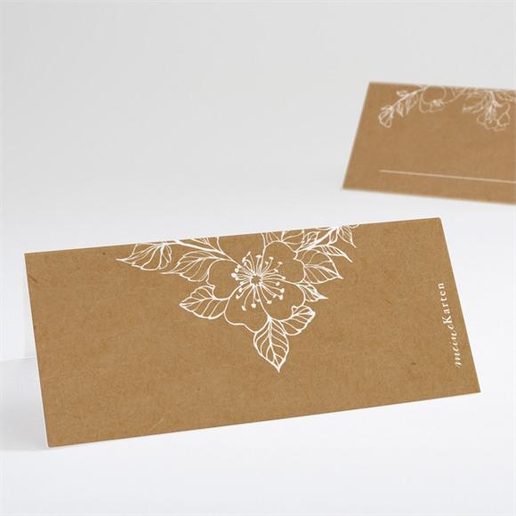 Tischkarte Hochzeit Weiße Blüten réf.N440655