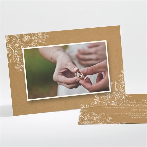 Danksagungskarte Hochzeit Weiße Blüten réf.N111194