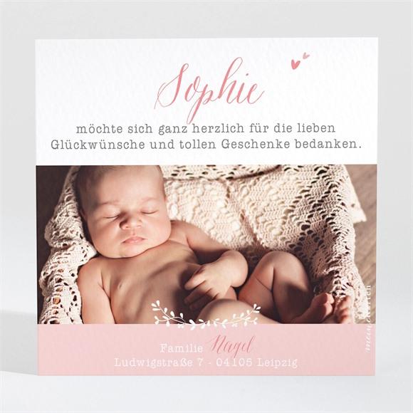 Danksagungskarte Geburt Pflanzen Sie Pastellfoto réf.N3001396