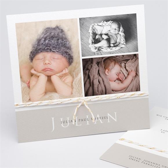 Geburtskarte Reines Glück réf.N311203