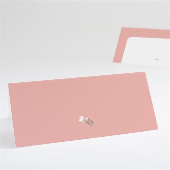 Tischkarte Taufe Blumenalphabet Mädchen réf.N440656