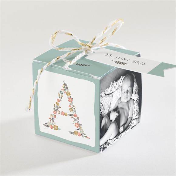Zuckermandel Schachtel (Taufe) Blumenalphabet Junge réf.N340105