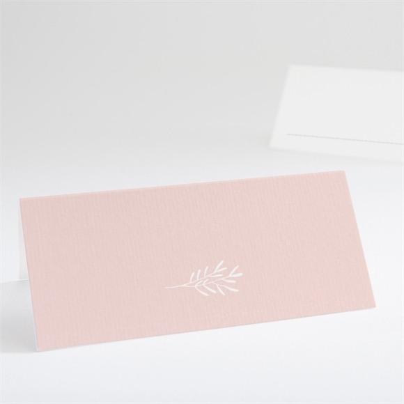 Tischkarte Taufe Rosa Poetik réf.N440658