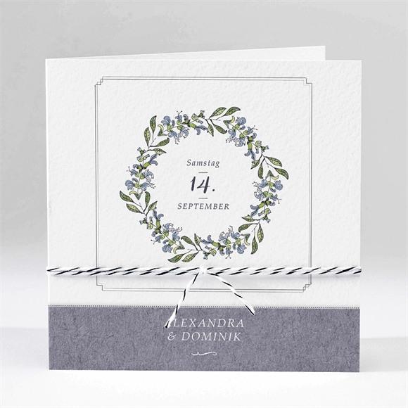 Einladungskarte Hochzeit Retrokranz réf.N45181