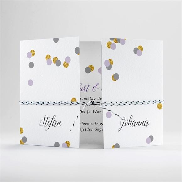 Einladungskarte Hochzeit Konfettiregen réf.N70170