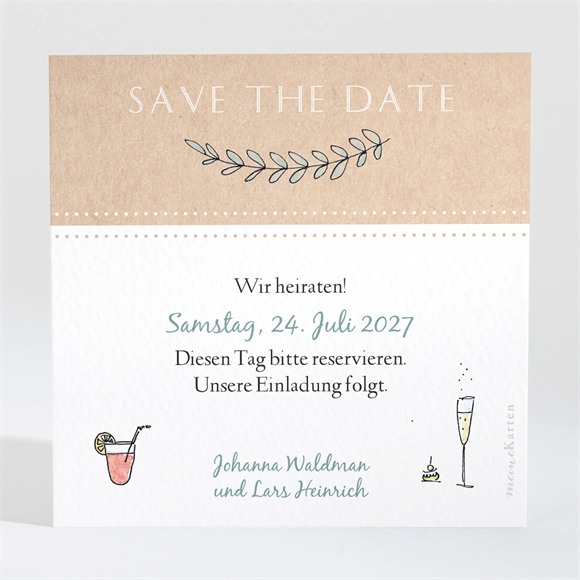 Save the Date Hochzeit Perfekt geplant réf.N3001440