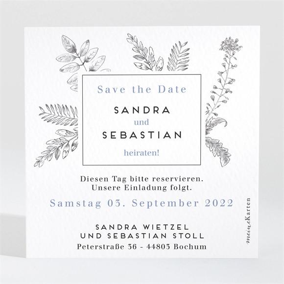 Save the Date Hochzeit Herbarium réf.N3001445