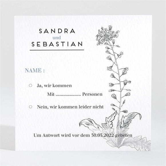 Antwortkarte Hochzeit Herbarium réf.N3001446