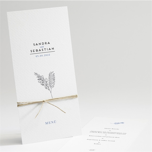 Menü Hochzeit Herbarium réf.N22149
