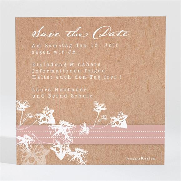 Save the Date Hochzeit Mit Efeu gebunden réf.N3001448