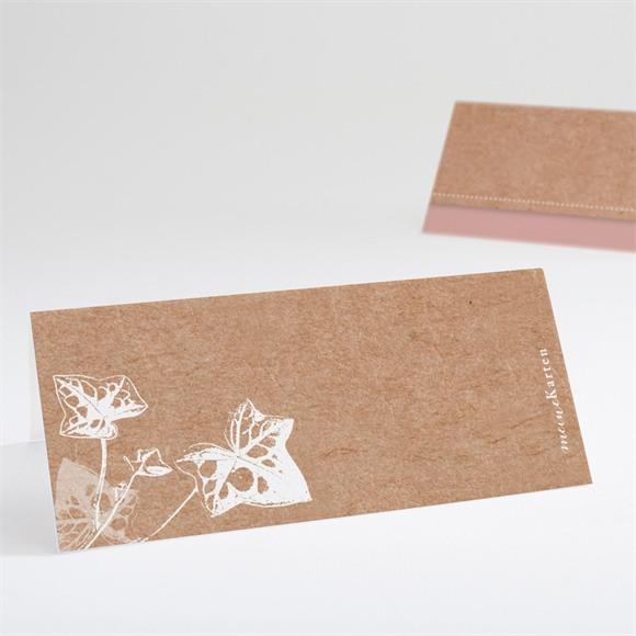 Tischkarte Hochzeit Mit Efeu gebunden réf.N440672